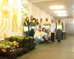 Sort out donated food for people in need in June