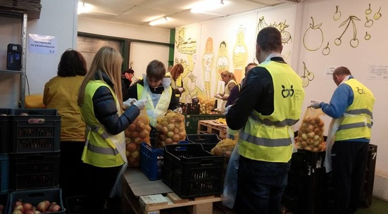 Sort out donated food for people in need in November