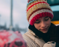 Knit a winter hat, scarf or gloves for a homeless person